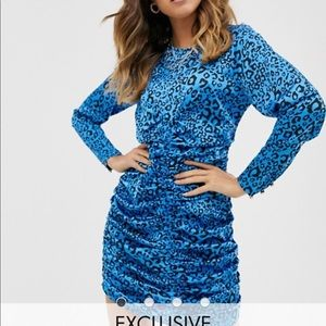 Blue animal print party dress from ASOS
